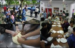 Encontro Intergeracional no CIC: Idosos/as do Centro de Dia com os jovens. Oficina de Culinária: Folar da Páscoa e jogos diversos.